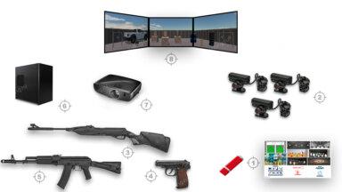 Комплект панорамного интерактивного тира