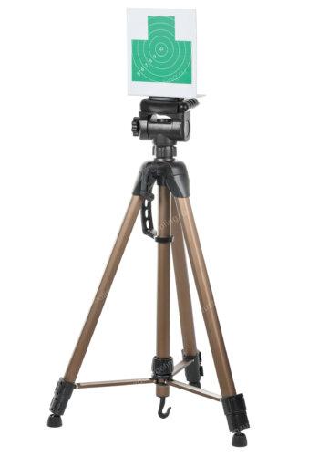 Зеленая мишень для лазерного тира на штативе