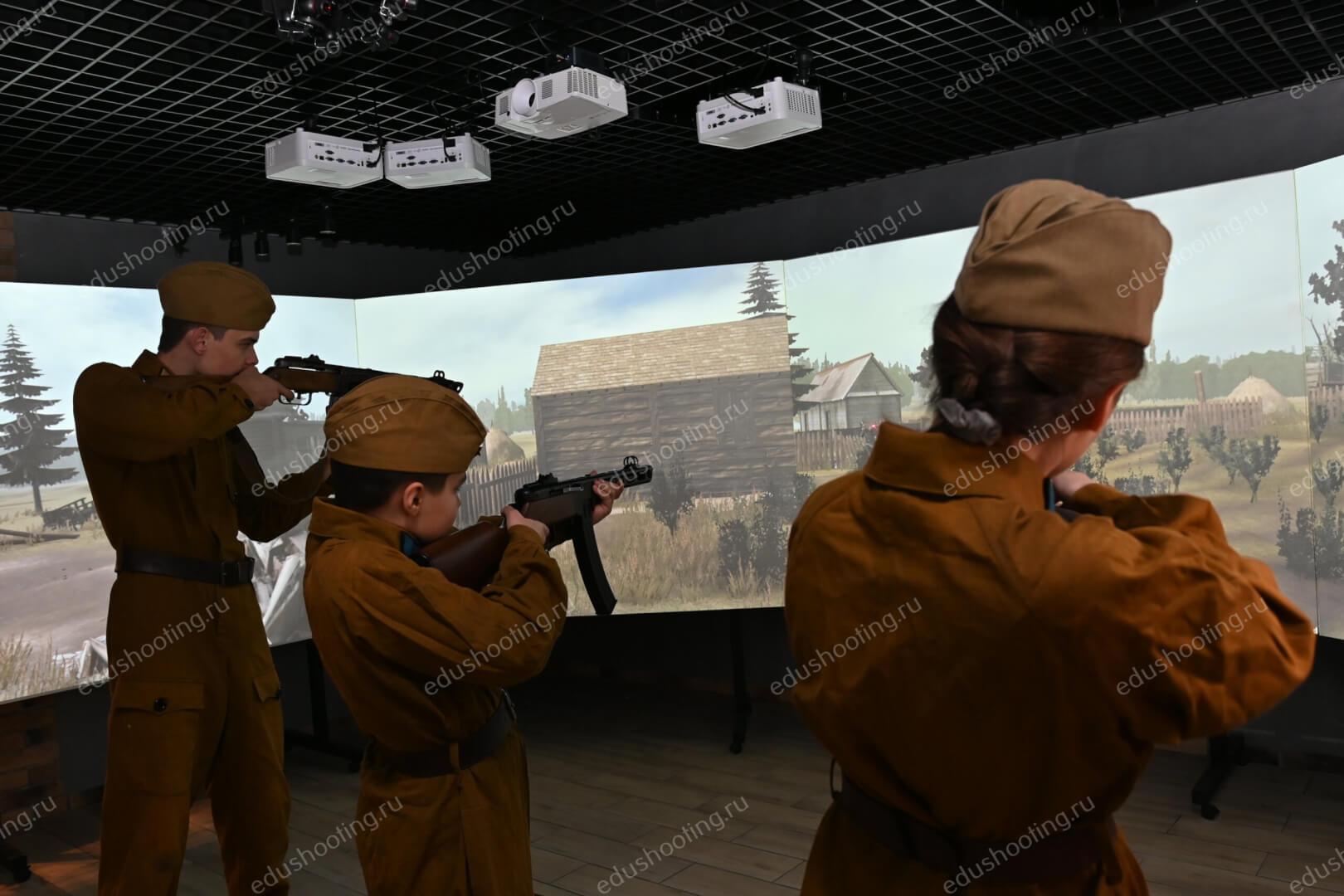 Стрельба учащихся в панорамном тире