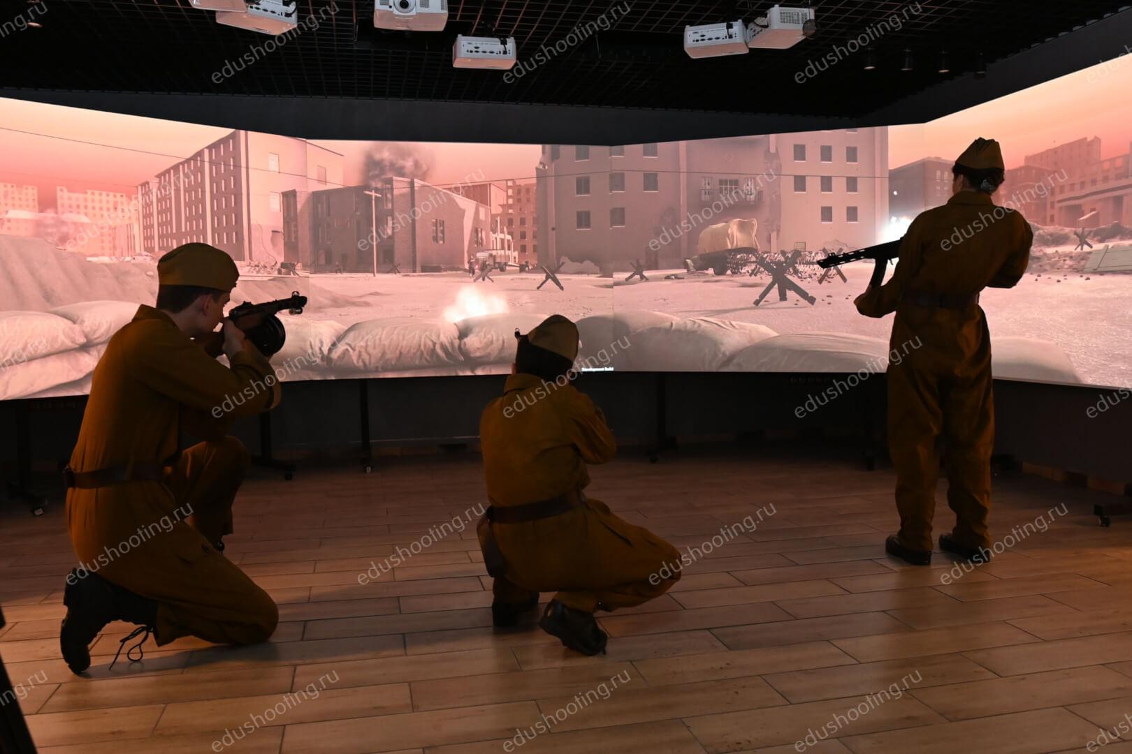 Стрельба детей в панорамном тире